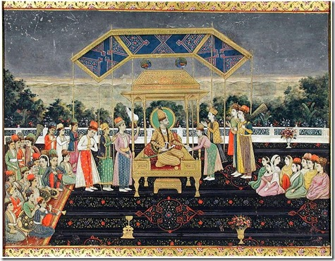 771px-Nadir_Shah_on_the_Peacock_Throne_after_his_defeat_of_Muhammad_Shah._ca._1850,_San_Diego_MOA