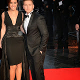 WWW.ENTSIMAGES.COM -  Charlie Webster and Allen Leech  arriving at    58th BFI LFF - The Imitation Game - opening film at Odeon Leicester Square, London October 8th 2014A biopic of Alan Turing, which opens this year's BFI London Film Festival.                                                    Photo Mobis Photos/OIC 0203 174 1069