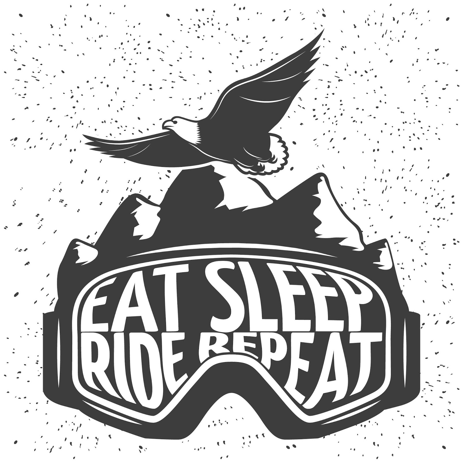 Snowboarding Mask With Headline Eat Sleep Ride Repeat Vector Illustration Free Download Vector CDR, AI, EPS and PNG Formats