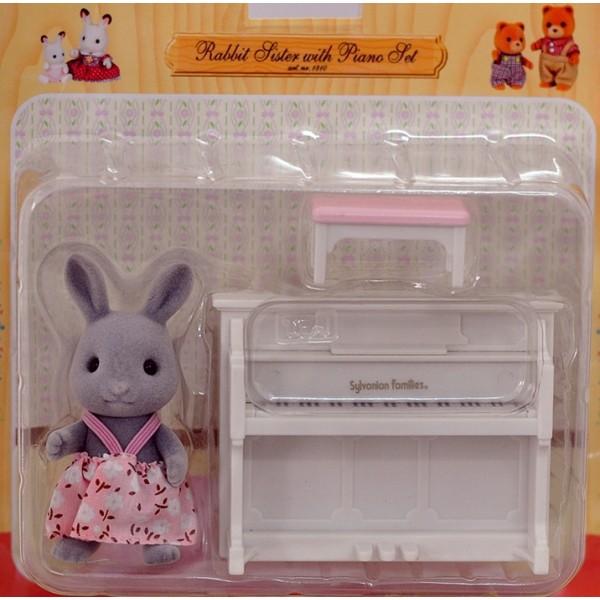 Thỏ chơi đàn Piano Rabbit Sister with Piano Set Epoch