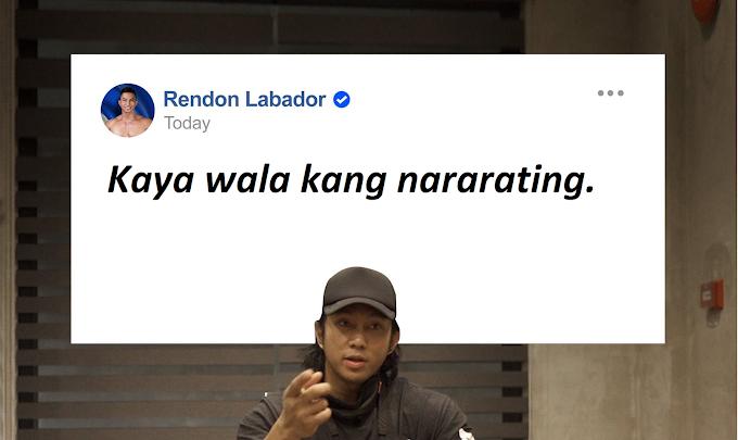 """Rendon Labador says to basher """"kaya wala kang nararating"""" - GazeFeed"""