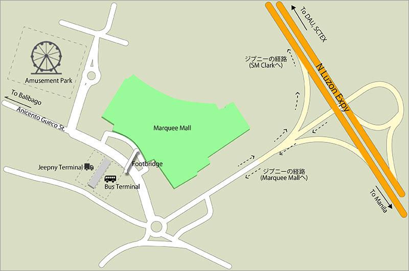 マーキーモールバスターミナル詳細図