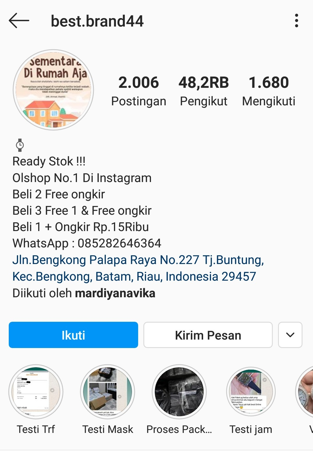 Best Brand44 Akun Instagram Penipu Masker Tukang Tipu