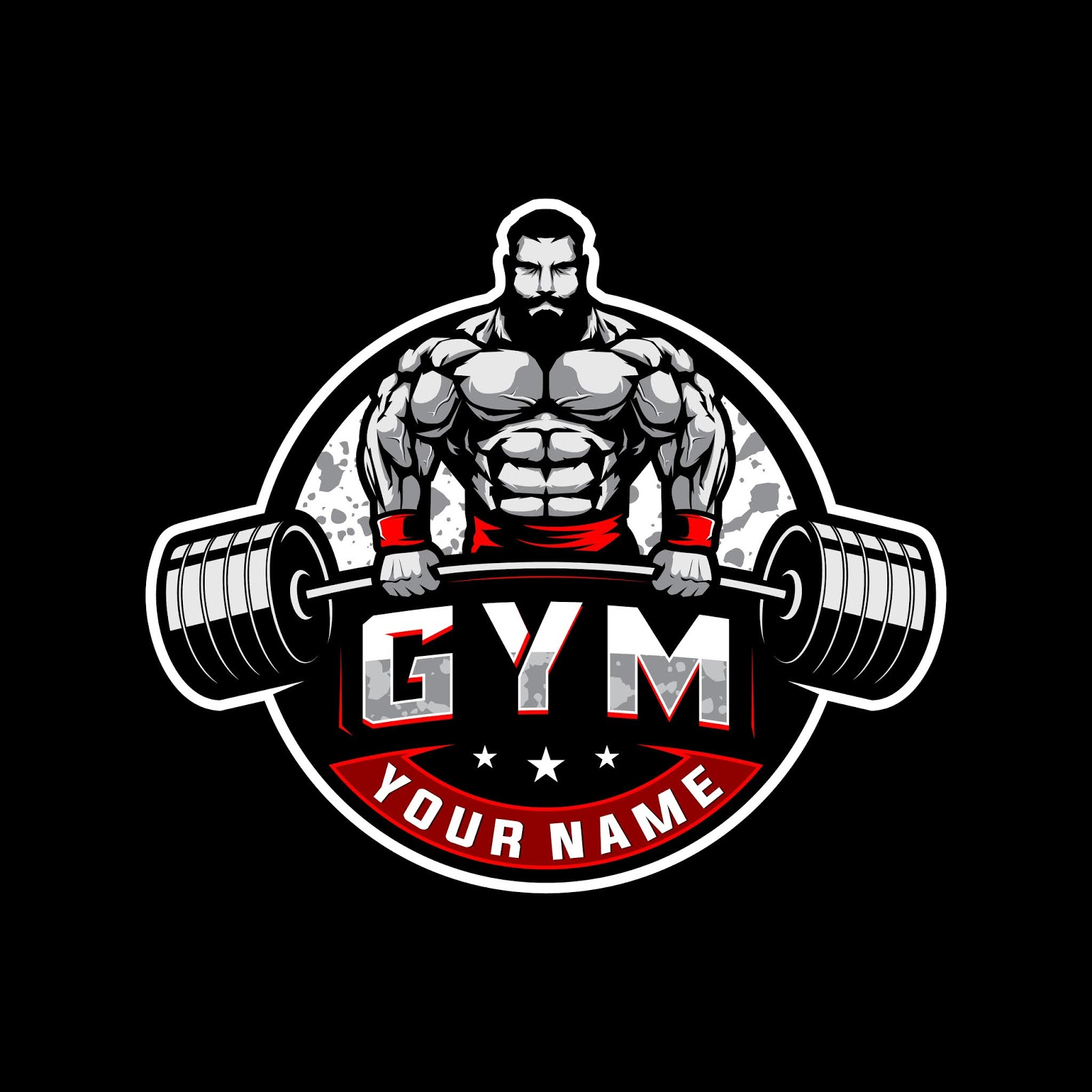 Bodybuilding Gym Logo Free Download Vector CDR, AI, EPS and PNG Formats