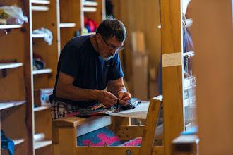 Photo: Weaver at Tierra Wools, Los Ojos