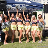 OIC - ENTSIMAGES.COM - Cheerleaders at the  London Beach Rugby  Event in London 31st July 2015 Photo Mobis Photos/OIC 0203 174 1069