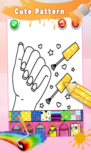 Glitter Nail Drawing Book and Coloring Game screenshot 12