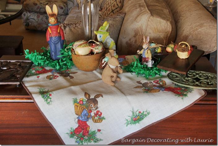 Gardening Bunny Easter Decor