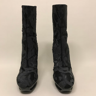 Calvin Klein Collection Fur/Printed Boots