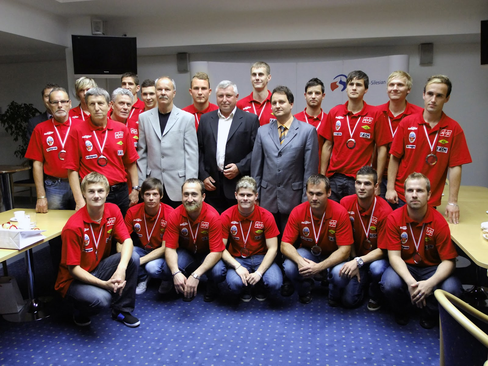 Poděkování vícemistrům na Krajském Úřadu v Ostravě za vzornou reprezentaci kraje v Evropě.