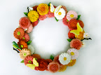 The floral wreath Yukiko created using Martha's Nature Starter Clay kit.