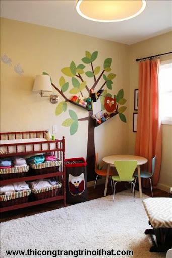 Phòng ngủ đẹp dành cho bé gái, bé trai - <strong><em>Thi công trang trí nội thất</em></strong>-2