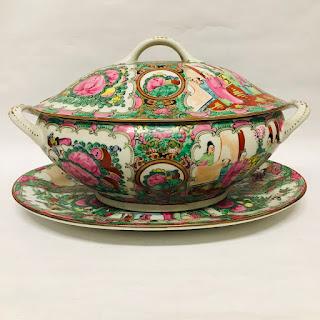 Rose Medallion Tureen & Platter