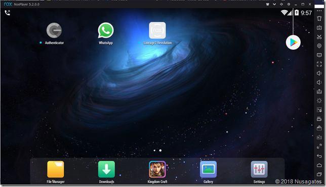 Menggunakan NOX Player di Laptop