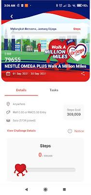 Jom Sertai NESTLÉ OMEGA PLUS Walk A Million Miles 2021