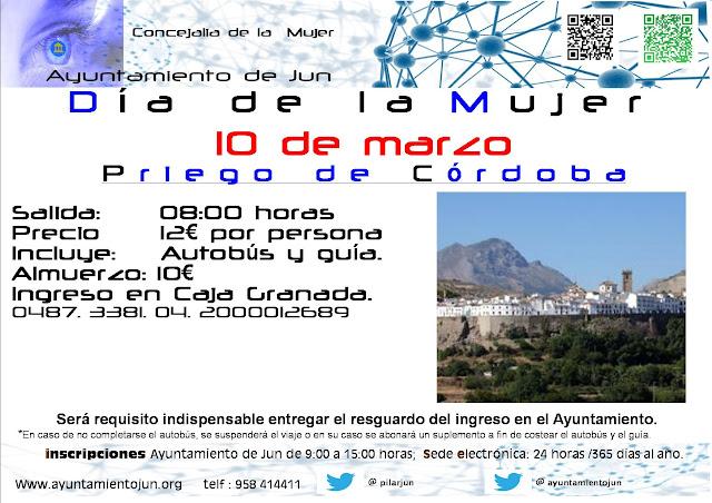 Cartel publicidad Viaje dia de la mUjer 2013