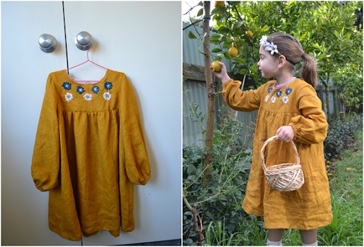 {Sewn} A Golden Bellbird Dress for Isabelle