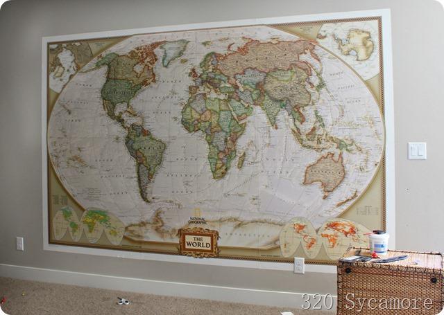 huge wall map wallpaper