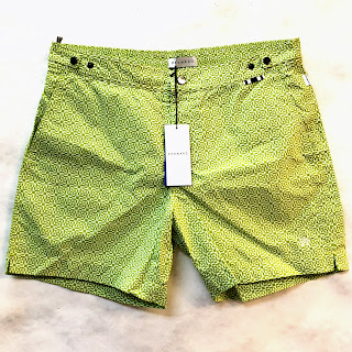 DANWARD NEW Ibiza Tailored Swim Short in Green Geo