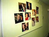 a few pics on the bulletin board in the hall