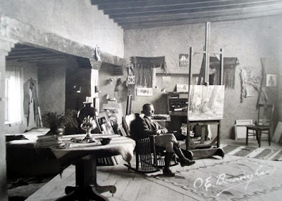OE Berninghaus in Taos Studio