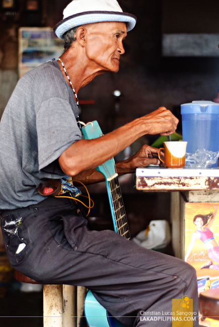 A Local Musician at Dumaguete City