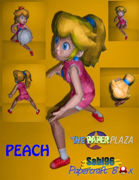 Princess Peach Volleyball Papercraft