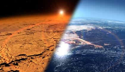 atmosfera atual e do passado de Marte
