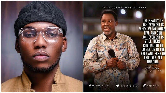 Singer Victor AD Pen Down Tribute to Late Prophet T.B Joshua