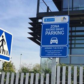 Madrid Smart Parking en el parque empresarial Vía Norte de las Tablas