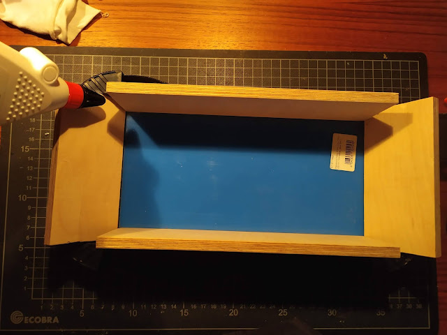 DIY Synth case glueing case together