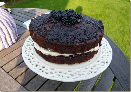 chocolate and blackberry upside down cake3