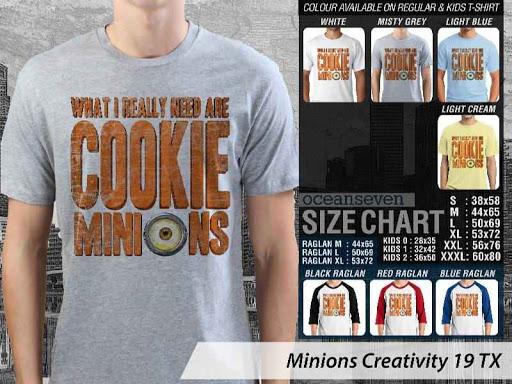 Kaos Kartun Minions Creativity 19 distro ocean seven