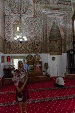 Tanya in the Et'hem Bej Mosque in Tirana