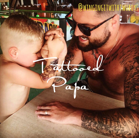 Tattooed Papa - Sam from Mad Lads Mum and Dad