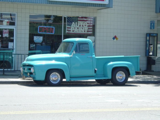 My old 55 f100, dad brought it home in 1965, still own it today. Still Nailhead powered!