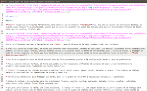 uText editor de texto markdown, pantalla completa