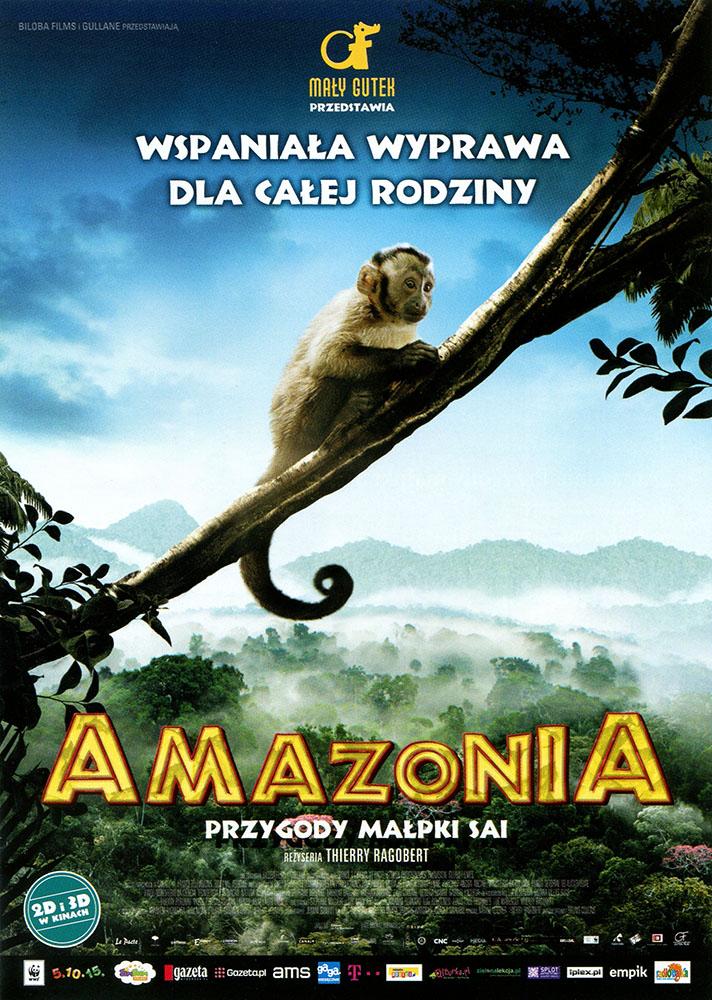 Ulotka filmu 'Amazonia. Przygody Małpki Sai (przód)'