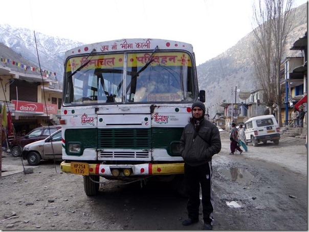 Kaza Bus standing at Spillo