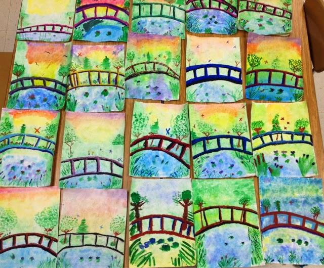 art with mr e monet s bridge 4th grade