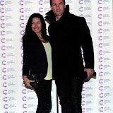 WWW.ENTSIMAGES.COM -  Hayley Tamaddon and Matt Evers  arriving at a Fundraising event in aid of Cancer Research UK at The Roof Gardens Kensington High Street, London April 3rd 2013                                                    Photo Mobis Photos/OIC 0203 174 1069
