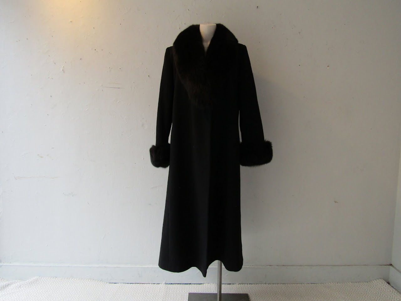 Madeline by Alorna Wool Coat with Fox Fur Collar