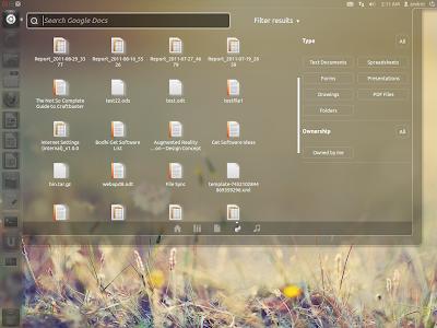 Unity Google Docs Lens Ubuntu