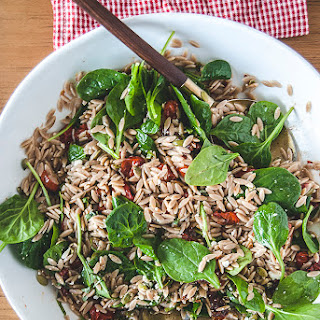 Sun-Dried Tomato Orzo Salad with Spinach and Italian Vinaigrette Recipe