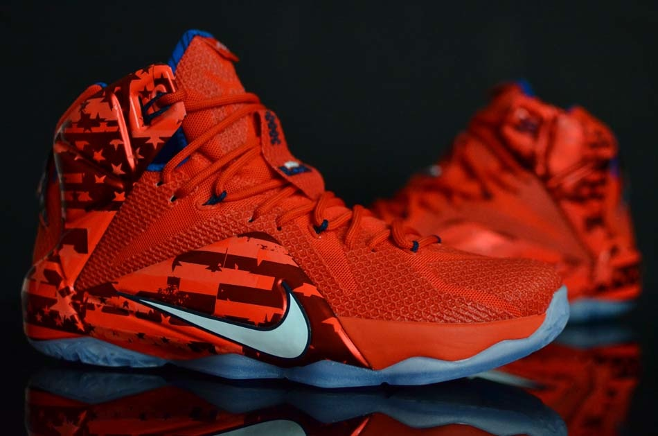 competitive price 154e8 f7dac Look Away If Youre Not a Fan of Independence Day LeBron 12 ...