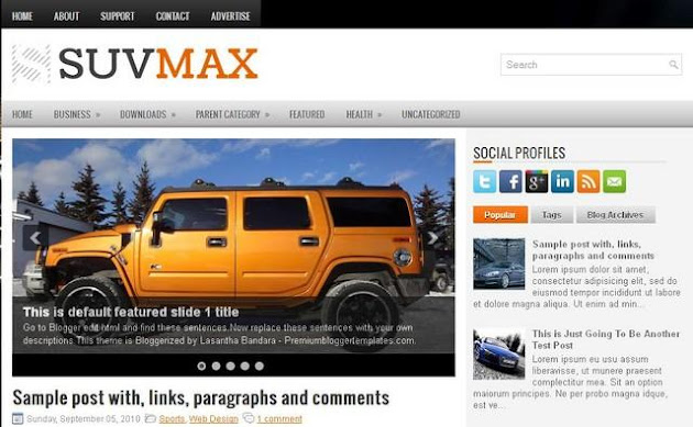SuvMax Blogger Template