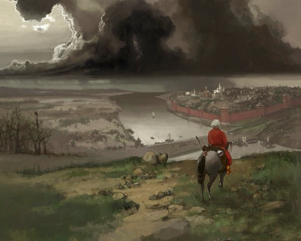 Alone Rider Near The Castle, Magick Lands 3