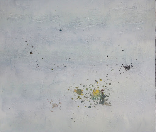 Searching 2015 Excavated oil on linen. Artist Fiona Long