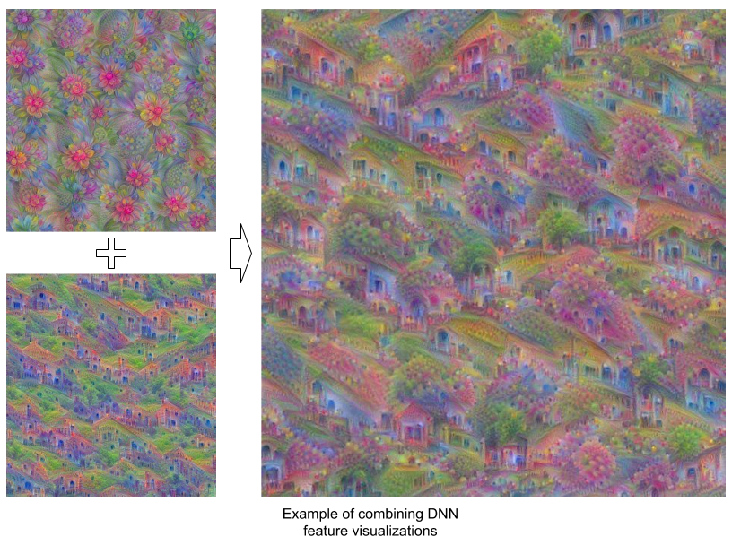 New DeepDream tutorial for TensorFlow is out, with new tricks
