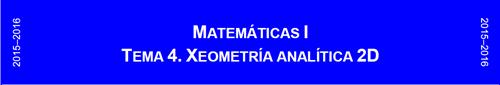 Mat I Xeometría analítica 2D